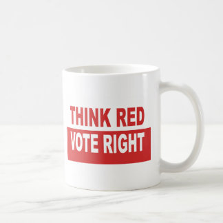 Think Red Vote Right Coffee Mug
