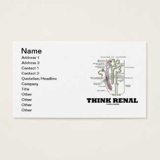 Think Renal (Kidney Nephron Renal) Business Card