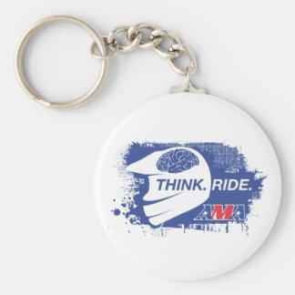 Think.Ride. Llavero Redondo Tipo Pin