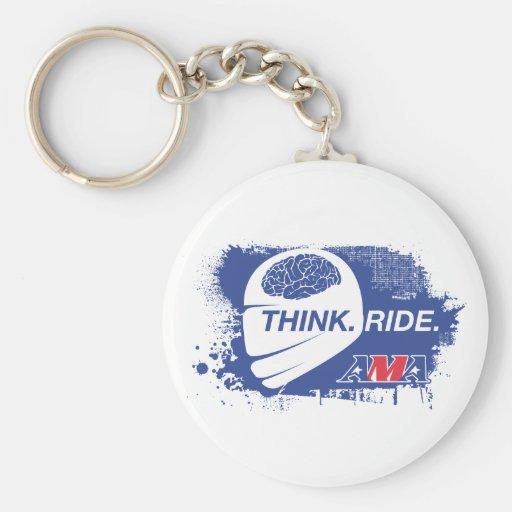 Think.Ride. Llavero Personalizado