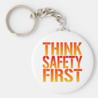 Think Safety First Keychain