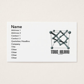 Think Silicon (Silicon Crystal Structure) Business Card