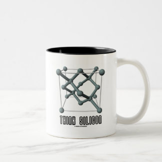 Think Silicon (Silicon Crystal Structure) Two-Tone Coffee Mug