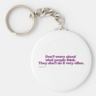 think_slap basic round button keychain