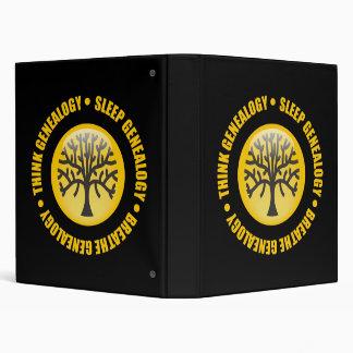 Think Sleep Breathe Genealogy 3 Ring Binder