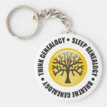 Think Sleep Breathe Genealogy Key Chain