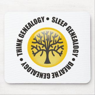 Think Sleep Breathe Genealogy Mouse Pad