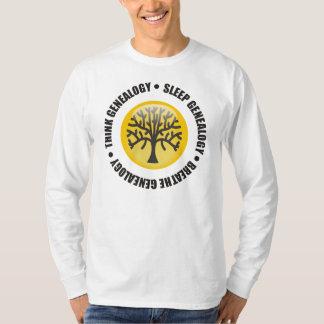 Think Sleep Breathe Genealogy Shirt