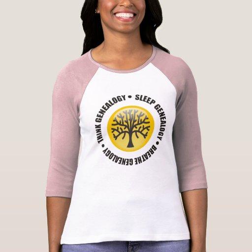 Think Sleep Breathe Genealogy Shirts