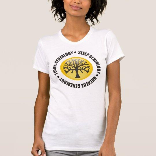 Think Sleep Breathe Genealogy T-Shirt