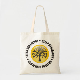 Think Sleep Breathe Genealogy Tote Bag