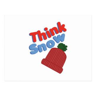 Think Snow Cap Postcard