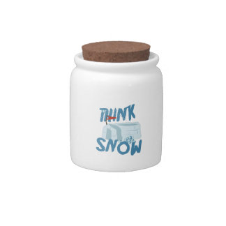 Think Snow Fort Candy Dishes