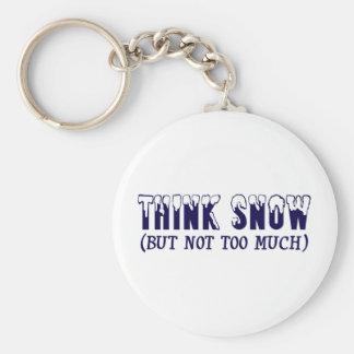 Think Snow Keychain