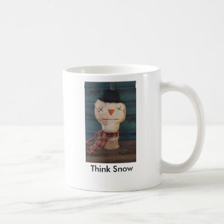 Think Snow Primitive Snowman Mug