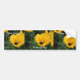 Think Spring! Bumper Sticker