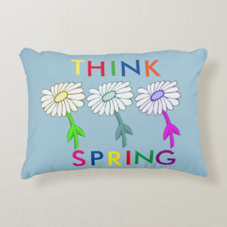 Think Spring Daisy Accent Pillow