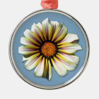 Think Spring Floral Cornflower Metal Ornament