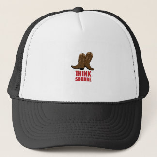 Think Square Trucker Hat