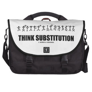 Think Substitution (Cryptography Cryptic Symbols) Bags For Laptop