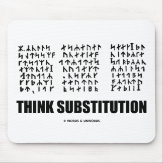 Think Substitution (Jules Verne Runic Cryptogram) Mousepad