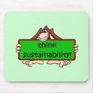 think sustainability mousepad