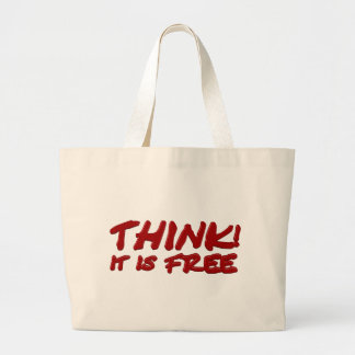 Think (talk) canvas bags