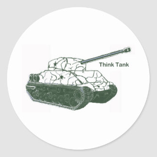 Think Tank Classic Round Sticker