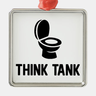 Think Tank Metal Ornament