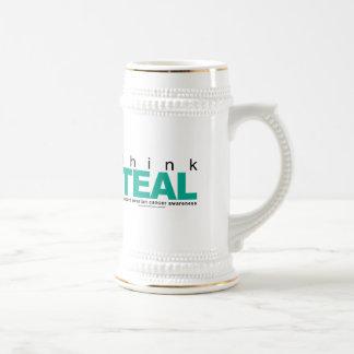 Think TEAL Ovarian Cancer Beer Stein