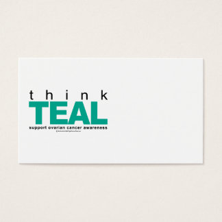 Think TEAL Ovarian Cancer Business Card