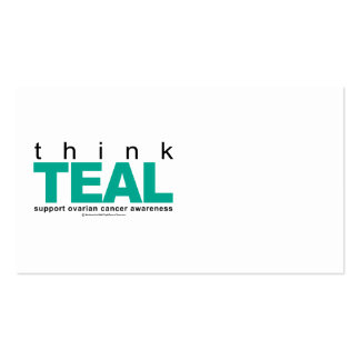 Think TEAL Ovarian Cancer Business Card Templates
