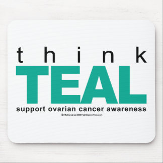 Think TEAL Ovarian Cancer Mouse Pad