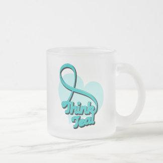 Think Teal Ovarian Cancer Mugs