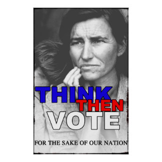 THINK THEN VOTE POSTER