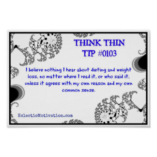 Think Thin Tip #0103 Poster