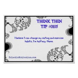 Think Thin Tip #0105 Poster