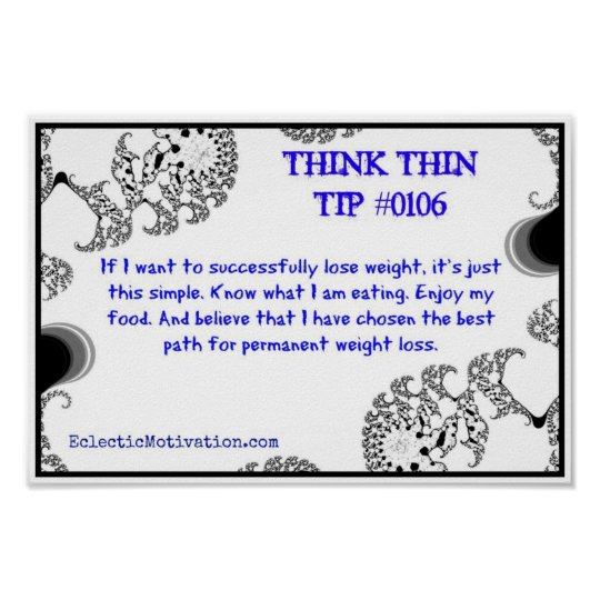 Think Thin Tip #0106 Poster