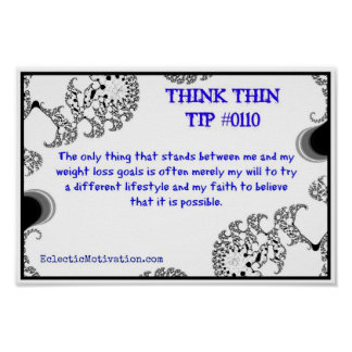 Think Thin Tip #0110 Poster