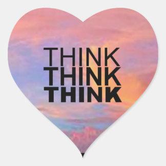 Think Think Think Heart Sticker