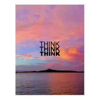Think Think Think Postcard