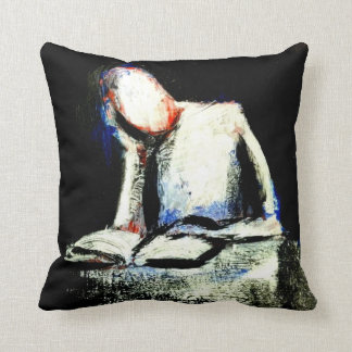 """THINK""  Throw Pillow With Art by Jack Larson"