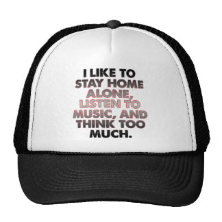 Think Too Much Funny Introvert Ball Cap Hat