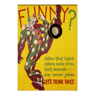 Think Twice Clown Poster