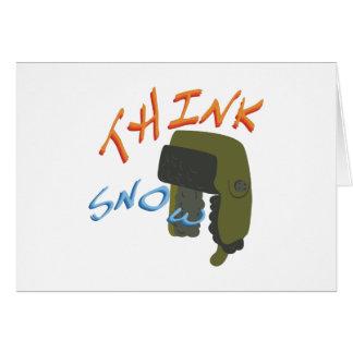 Think Ushanka Greeting Card
