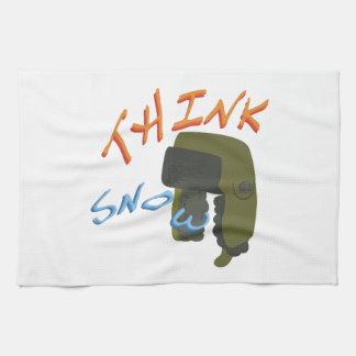 Think Ushanka Hand Towels