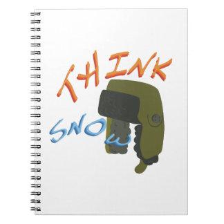 Think Ushanka Spiral Notebooks