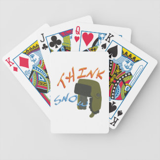 Think Ushanka Bicycle Playing Cards