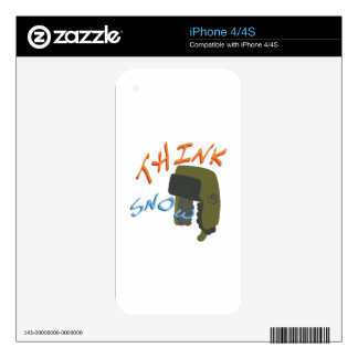 Think Ushanka Decals For iPhone 4S
