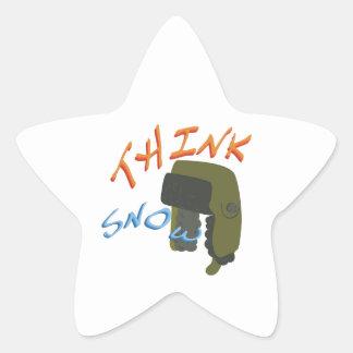 Think Ushanka Star Sticker